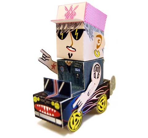 Calling All Cars Paper Toy Chick Magnet