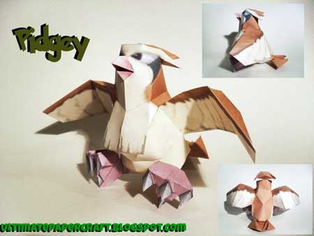 Pokemon Pidgey Papercraft
