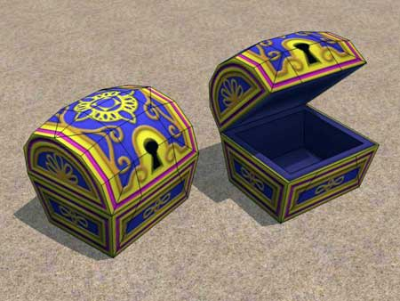 Kingdom Hearts 2 Papercraft Agrabah Treasure Chest