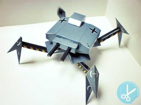 Angreifer Crawler Tank Papercraft