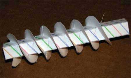 Archimedes Screw Papercraft