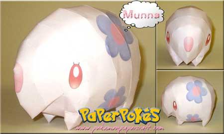 Pokemon Munna Papercraft