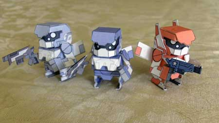 Phantom Capsule Papercraft