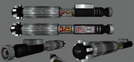 Star Wars Lightsaber Papercraft The Sith Persuader