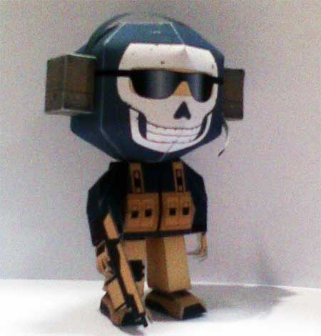 Call of Duty Papercraft Ghost