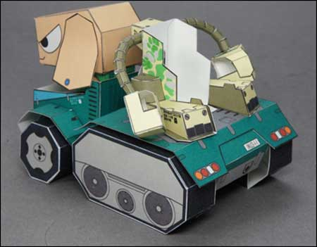 INU06 POCHI Power Armored Dog Papercraft