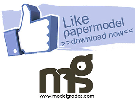 Facebook Like Button Papercraft