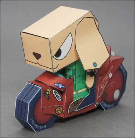 SHIBAINU XJ1 Motorcycle Papercraft