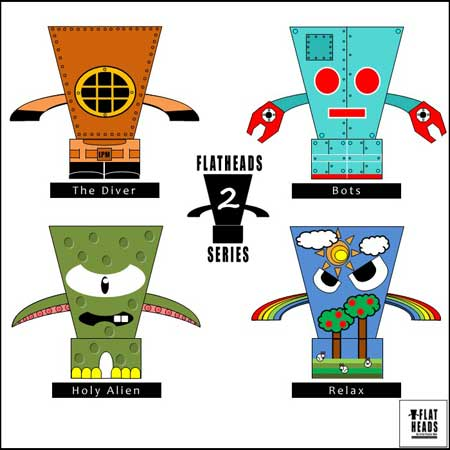 Flat Heads Paper Toy Series 2