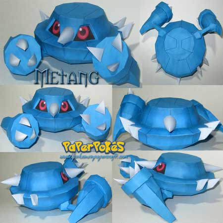 Pokemon Metang Papercraft