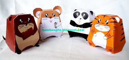 Cute Animal Paper Toy