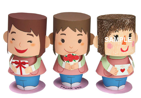 2011 Mother's Day Papercraft Message Dolls