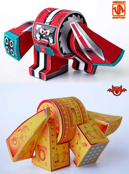 Ye-bot Paper Toy Pilot Insider