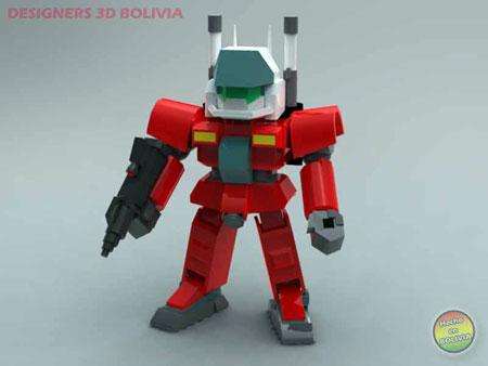 Gundam Mini RX77 Guncannon Papercraft