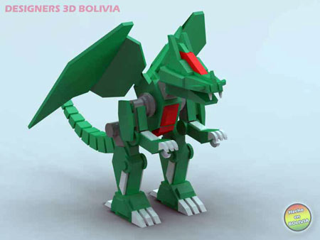 Robo Dragon Papercraft