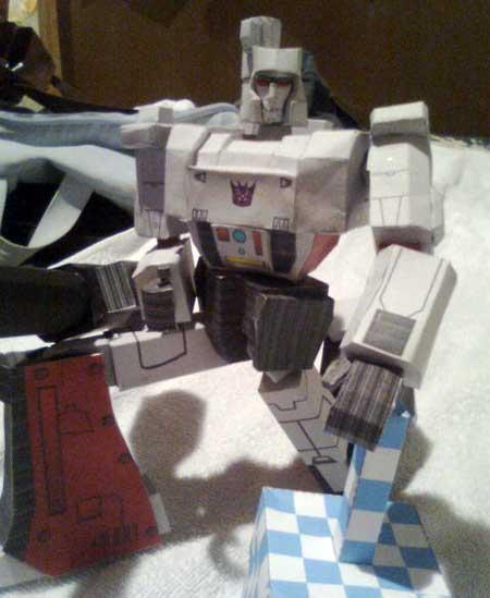 Transformers G1 Megatron Paper Model