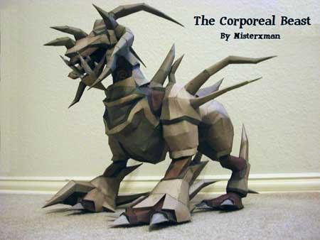 Runescape Papercraft Corporeal Beast