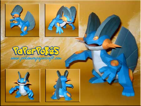 Pokemon Swampert Papercraft