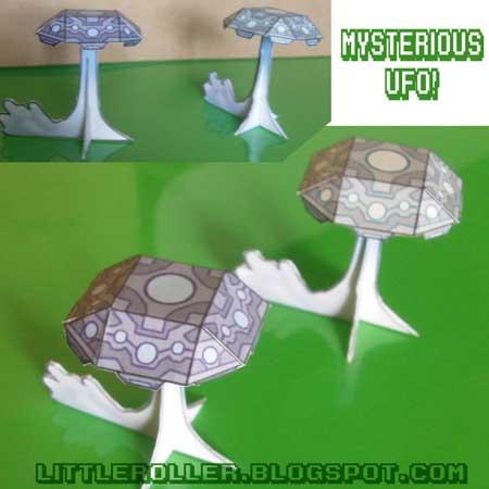 Phantom Capsule Mysterious UFO Papercraft