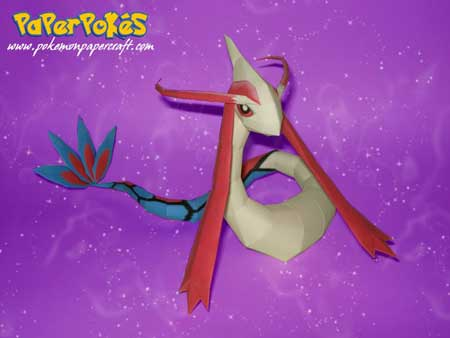 Pokemon Milotic Papercraft