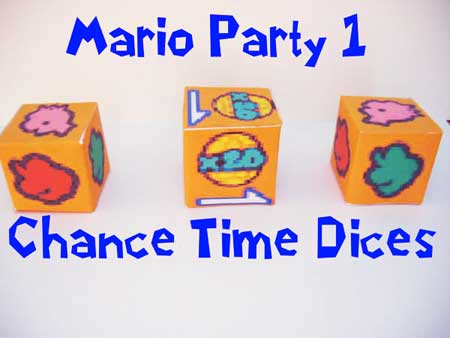 Mario Party Dice Papercraft