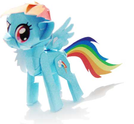 My Little Pony Papercraft Rainbow Dash