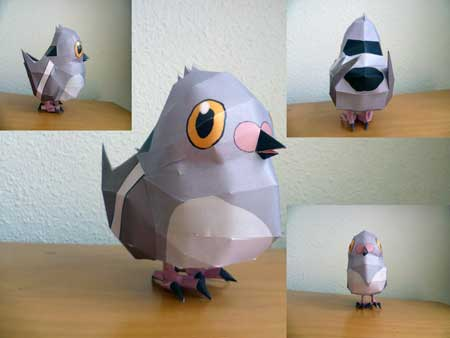 Pokemon Pidove Papercraft