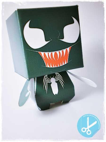 Venom Paper Toy