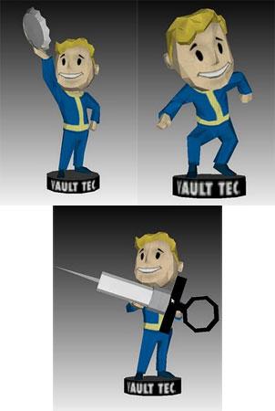 Fallout 3 Barter Medicine Sneak Bobblehead Papercrafts