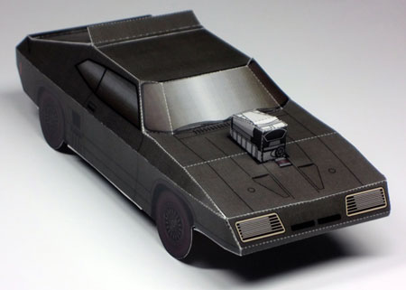 Mad Max Interceptor Paper Toy Ford XB Falcon