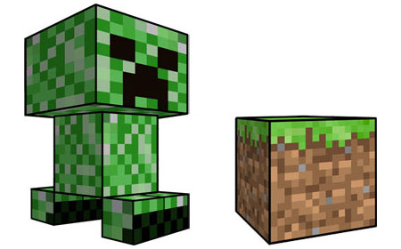 Minecraft Dirt Block and Creeper Papercraft