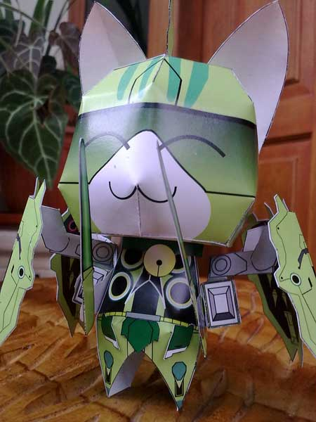 Anime Cat Gundam Kshatriya Papercraft