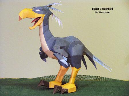 Runescape Spirit Terrorbird Papercraft