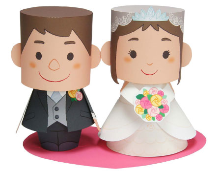 Bride and Groom Papercraft