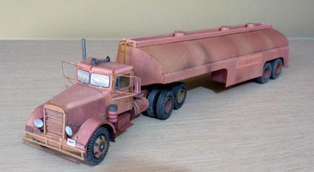Peterbilt 281 Papercraft - Duel Tanker Truck