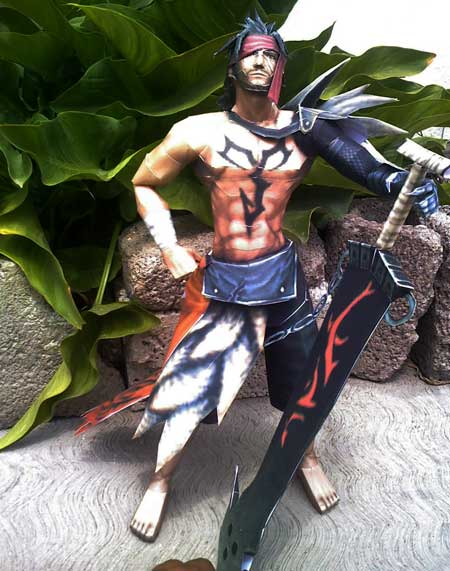Dissidia Final Fantasy Jecht Papercraft