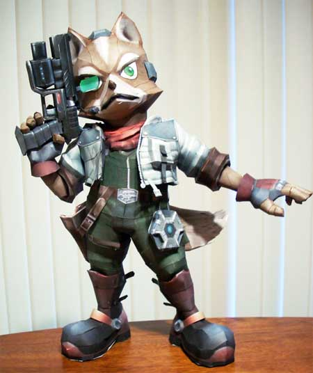 Super Smash Bros Brawl Fox McCloud Papercraft