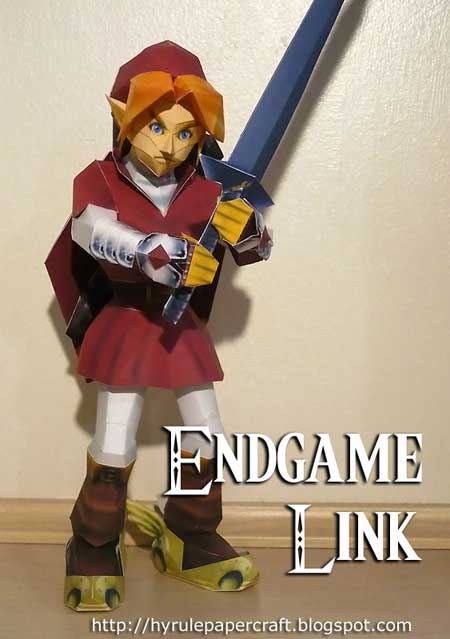 Red Endgame Link Papercraft