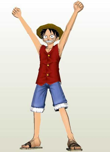 One Piece Monkey D Luffy Papercraft