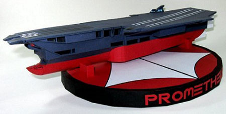 Macross CVS101 Prometheus Sea Carrier Papercraft
