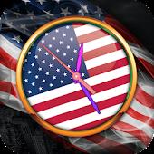 USA Clock Live Wallpaper