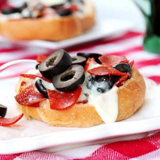 Mini Kaiser Roll Pizzas