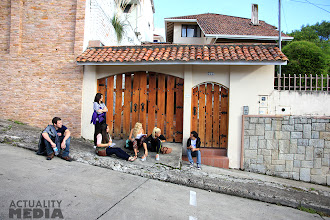 Photo: The TECHO crew on the streets of Cuenca.