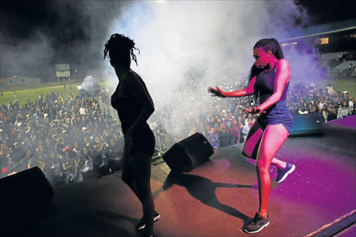 GOING FOR A SONG: Zintle Kwaaiman performs at the Mayoral Cup in East London Picture: MICHAEL PINYANA