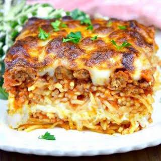 Million Dollar Spaghetti Casserole.