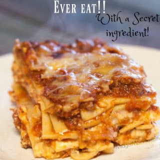 The BEST Lasagna you will Ever Eat! Made with a secret ingredient!