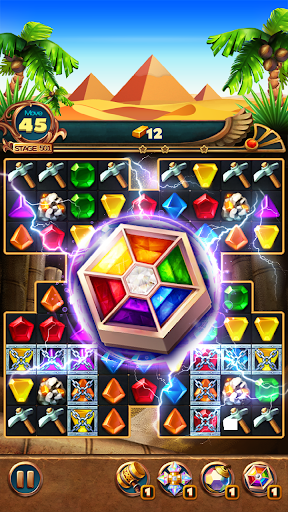 Jewels Treasure : Puzzle match 3  captures d'écran 2