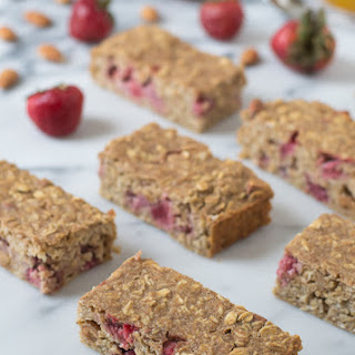 Strawberry Oatmeal Breakfast Bars.
