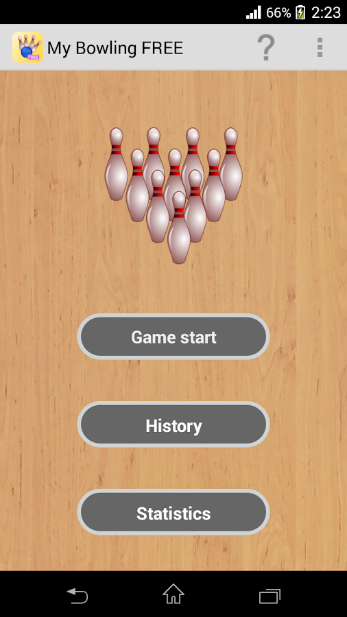 My Bowling Scoreboard- screenshot