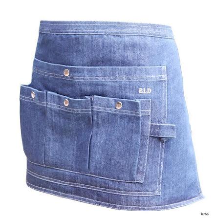 Trädgårdsförkläde av jeans midjekort ELDgarden
